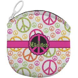 Peace Sign Round Coin Purse (Personalized)