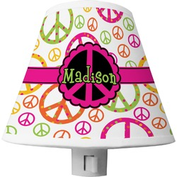 Peace Sign Shade Night Light (Personalized)