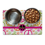 Peace Sign Dog Food Mat (Personalized)