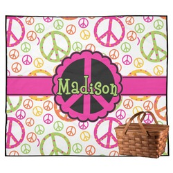 Peace Sign Outdoor Picnic Blanket (Personalized)