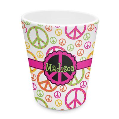 Peace Sign Plastic Tumbler 6oz (Personalized)