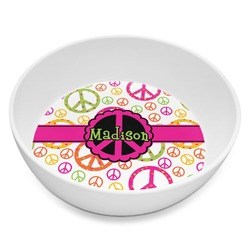 Peace Sign Melamine Bowl 8oz (Personalized)
