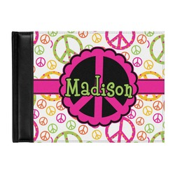 Peace Sign Genuine Leather Guest Book (Personalized)