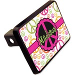 "Peace Sign Rectangular Trailer Hitch Cover - 2"" (Personalized)"