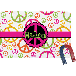 Peace Sign Rectangular Fridge Magnet (Personalized)