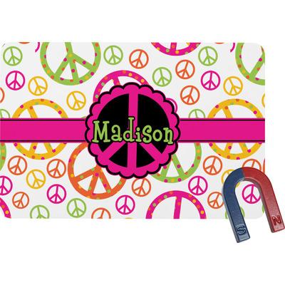 Peace Sign Rectangular Fridge Magnet (Personalized)