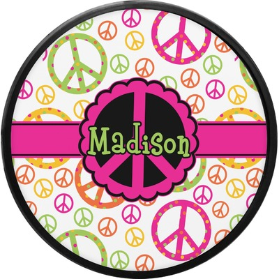 Peace Sign Round Trailer Hitch Cover (Personalized)