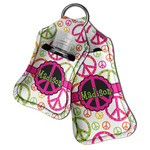 Peace Sign Hand Sanitizer & Keychain Holder (Personalized)