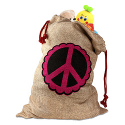 Peace Sign Santa Sack (Personalized)