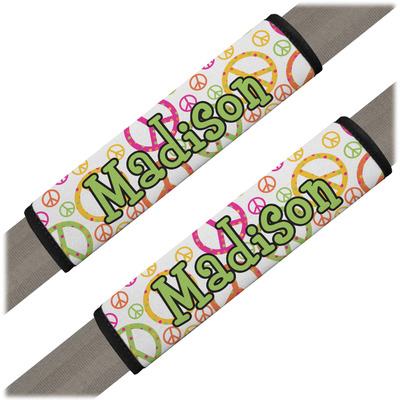 Peace Sign Seat Belt Covers (Set of 2) (Personalized)