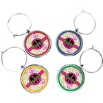 Peace Sign Wine Charms (Set of 4) (Personalized)