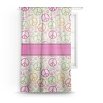 Peace Sign Sheer Curtains (Personalized)