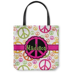 Peace Sign Canvas Tote Bag (Personalized)
