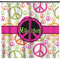 Peace Sign Shower Curtain (Personalized)