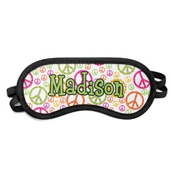 Peace Sign Sleeping Eye Mask (Personalized)