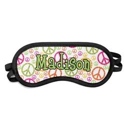 Peace Sign Sleeping Eye Mask (Personalized)