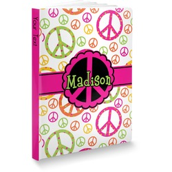 Peace Sign Softbound Notebook (Personalized)