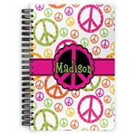 Peace Sign Spiral Bound Notebook (Personalized)