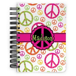 Peace Sign Spiral Bound Notebook - 5x7 (Personalized)