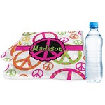 Peace Sign Sports & Fitness Towel (Personalized)