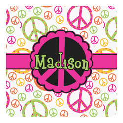 Peace Sign Square Decal - Custom Size (Personalized)
