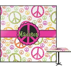 """Peace Sign Square Table Top - 24"""" (Personalized)"""