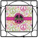 Peace Sign Square Trivet (Personalized)