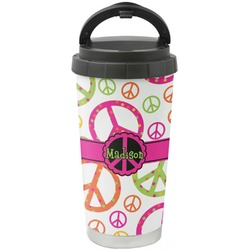 Peace Sign Stainless Steel Travel Mug (Personalized)