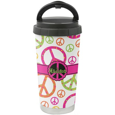 Peace Sign Stainless Steel Coffee Tumbler (Personalized)