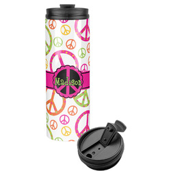 Peace Sign Stainless Steel Travel Tumbler (Personalized)