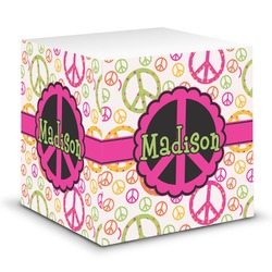 Peace Sign Sticky Note Cube (Personalized)