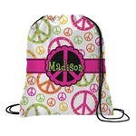 Peace Sign Drawstring Backpack (Personalized)
