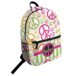 Peace Sign Student Backpack (Personalized)