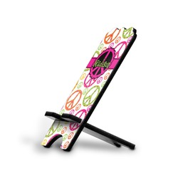 Peace Sign Stylized Phone Stand (Personalized)