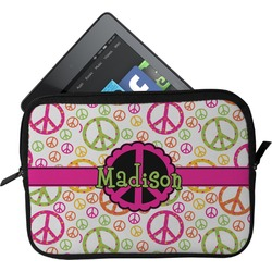 Peace Sign Tablet Case / Sleeve (Personalized)