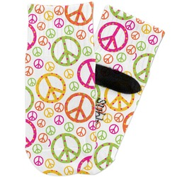 Peace Sign Toddler Ankle Socks (Personalized)