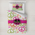 Peace Sign Toddler Bedding w/ Name or Text