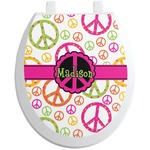 Peace Sign Toilet Seat Decal (Personalized)
