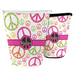 Peace Sign Waste Basket (Personalized)