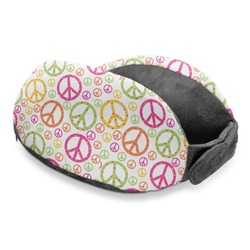 Peace Sign Travel Neck Pillow (Personalized)