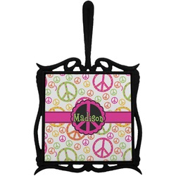 Peace Sign Trivet with Handle (Personalized)