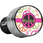Peace Sign USB Car Charger (Personalized)