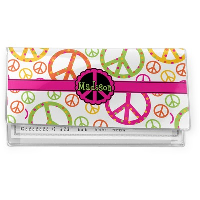 Peace Sign Vinyl Checkbook Cover (Personalized)