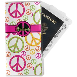 Peace Sign Travel Document Holder
