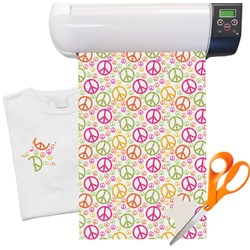 "Peace Sign Heat Transfer Vinyl Sheet (12""x18"")"