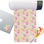 Peace Sign Sticker Vinyl Sheet (Permanent)
