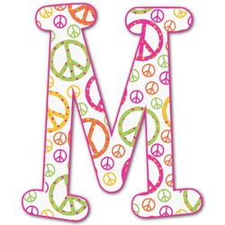 Peace Sign Letter Decal - Custom Sizes (Personalized)
