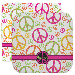 Peace Sign Facecloth / Wash Cloth (Personalized)