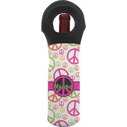 Peace Sign Wine Tote Bag (Personalized)