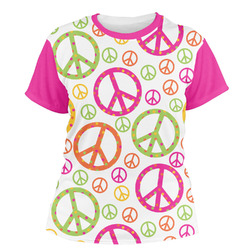 Peace Sign Women's Crew T-Shirt (Personalized)